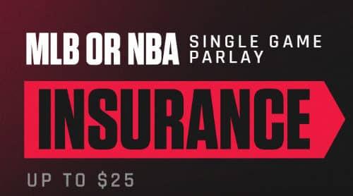 MLB or NBA Single Game Parlay Insurance
